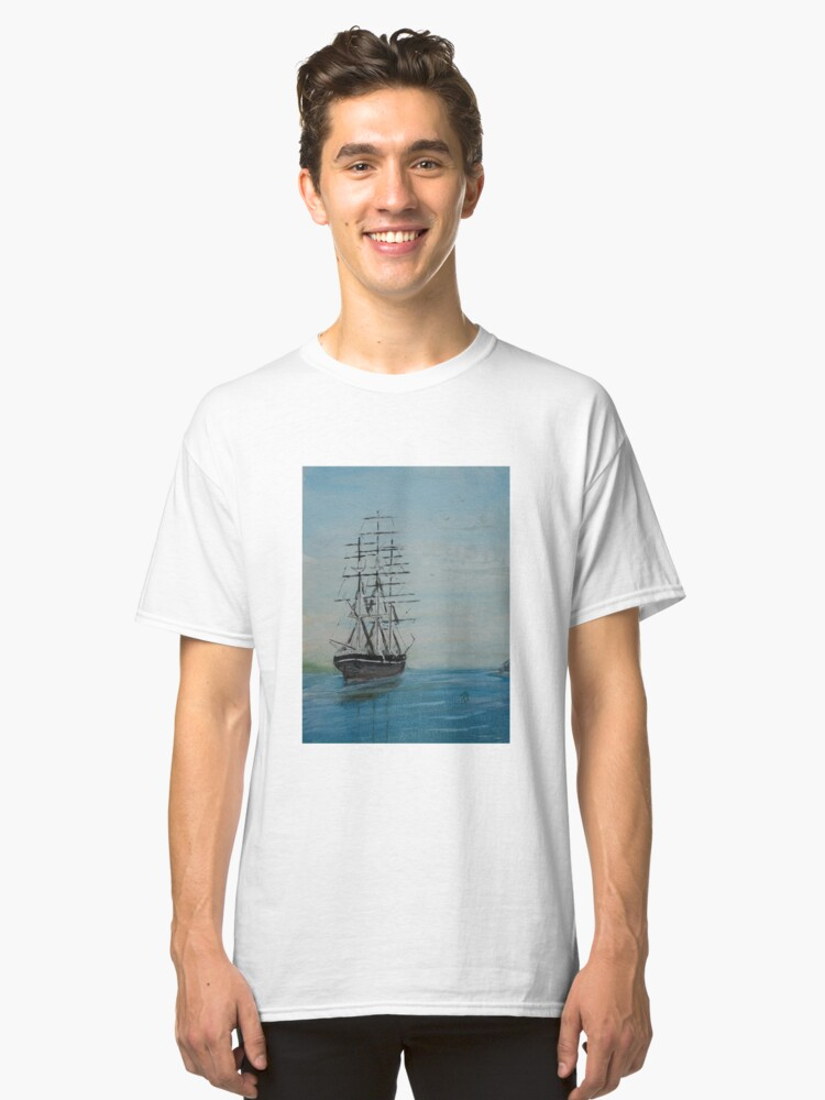 Tall Ship at rest Classic T-Shirt Front