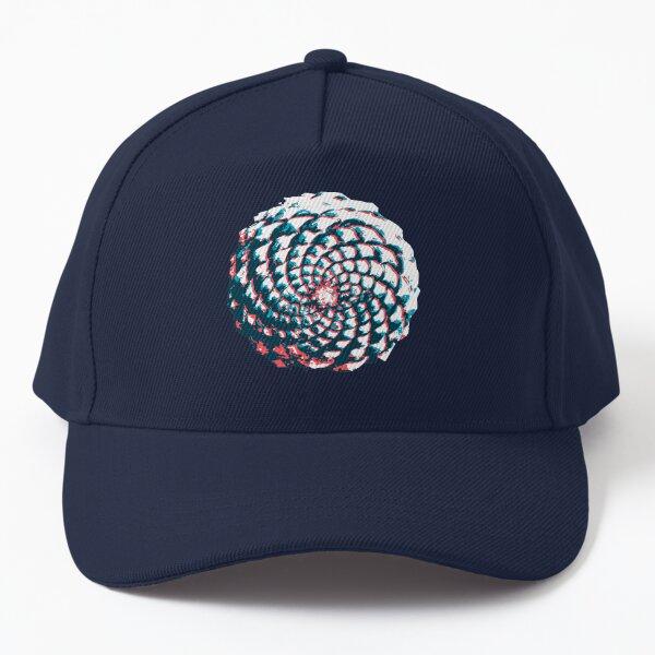 pine cone in coral, aqua and indigo Baseball Cap