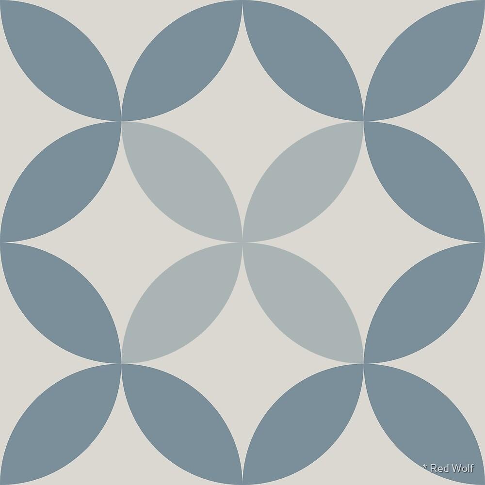 Geometric Pattern: Circle Nested: Bluestone by * Red Wolf