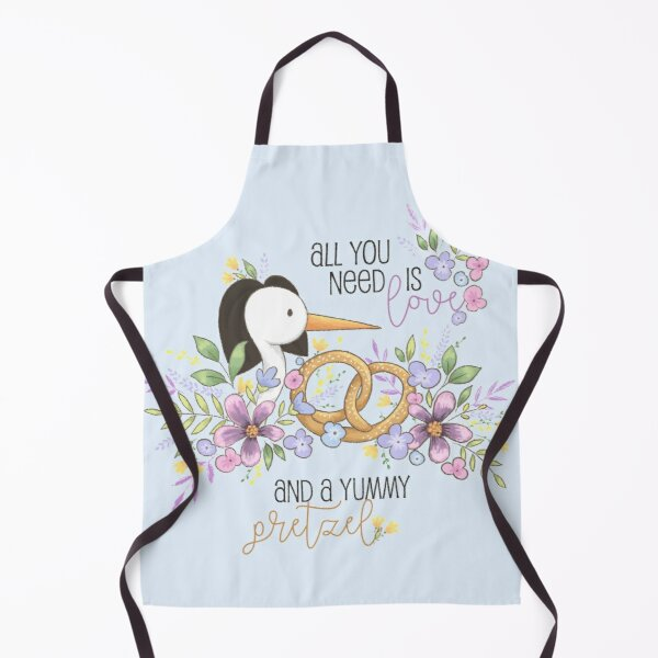 All you need is love and a yummy pretzel Apron