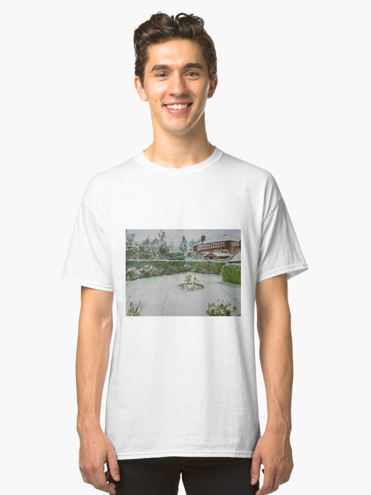 Back Garden in winter Classic T-Shirt Front