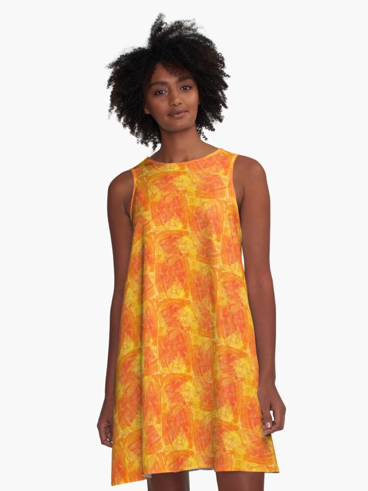 20160911 Flames no. 1 A-Line Dress Front