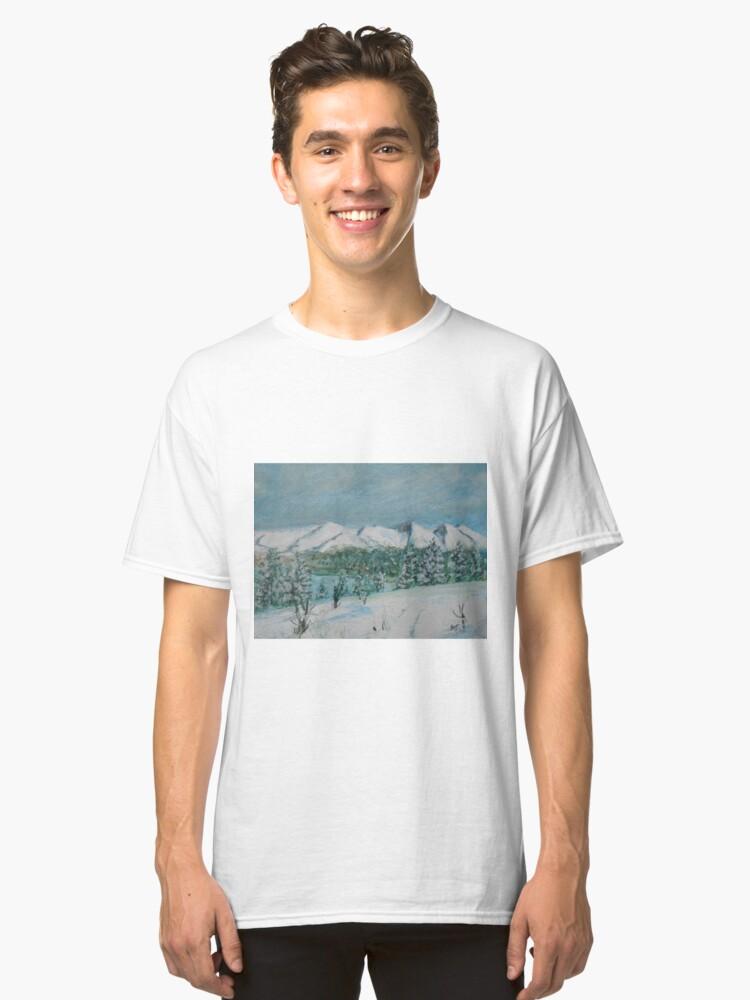 Wintery Scotland Classic T-Shirt Front