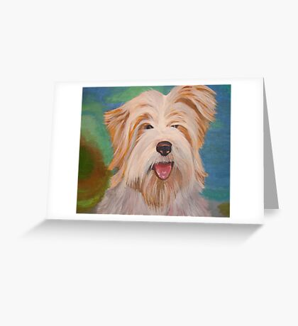 Terrier Portrait Greeting Card
