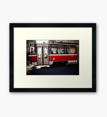 red tram Framed Print