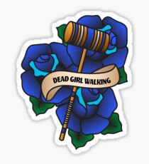Dead Girl Walking Sticker