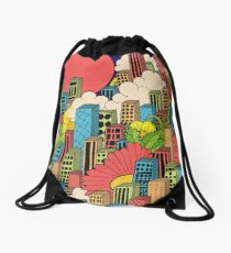 Cityscape Drawstring Bag