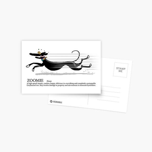 Greyhound Glossary: Zoomie Postcard