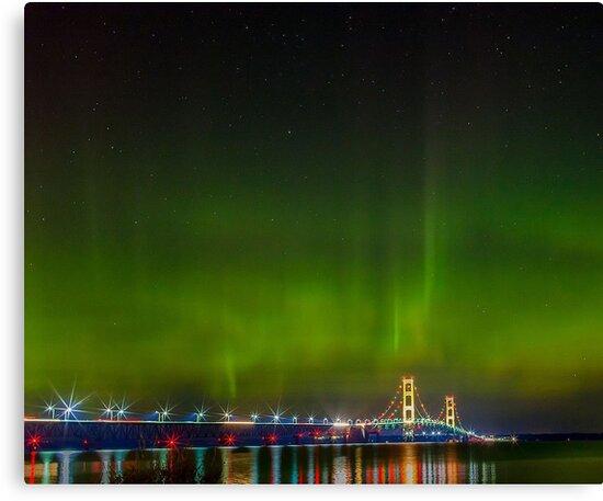 Mackinac Bridge by Edmond  Hogge