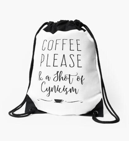 Coffee Please Drawstring Bag