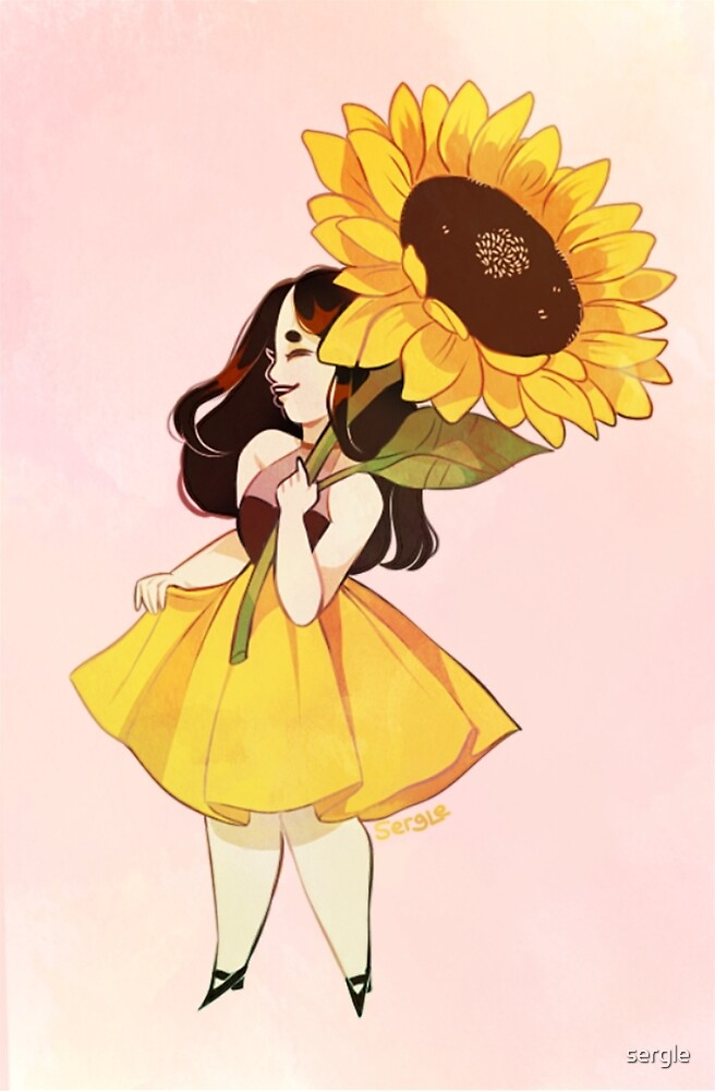Sunflower Girl by sergle