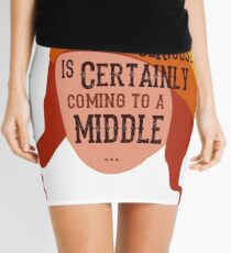 Coming To A Middle Mini Skirt