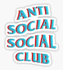 Anti Social Social Club Blue and Red Sticker