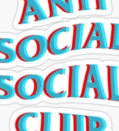 Anti Social Social Club Blue and Red Sticker