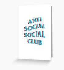 Anti Social Social Club Blue and Red Greeting Card