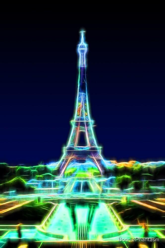 Glowing Eiffel Tower by BonniePhantasm