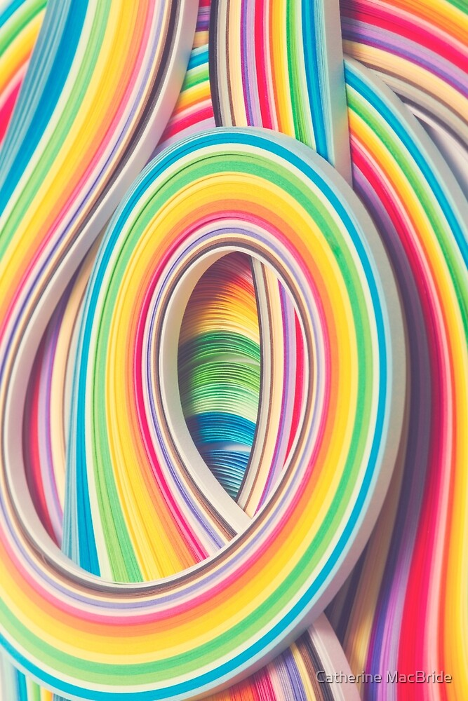 Paper swirl... by Catherine MacBride