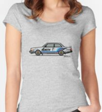 Volvo 240 242 Turbo Group A Homologation Race Car Women's Fitted Scoop T-Shirt