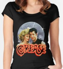 GREASE DISCO BALL Women's Fitted Scoop T-Shirt