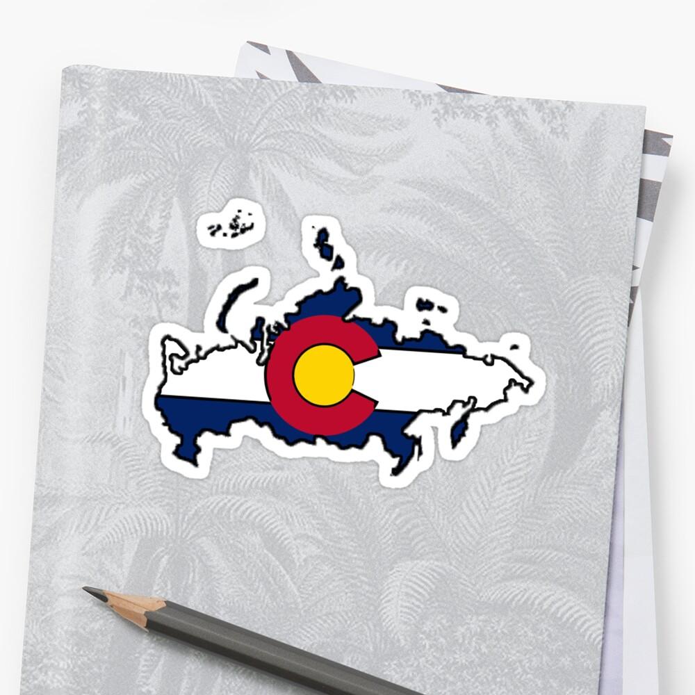 Colorado flag Russia outline by artisticattitud
