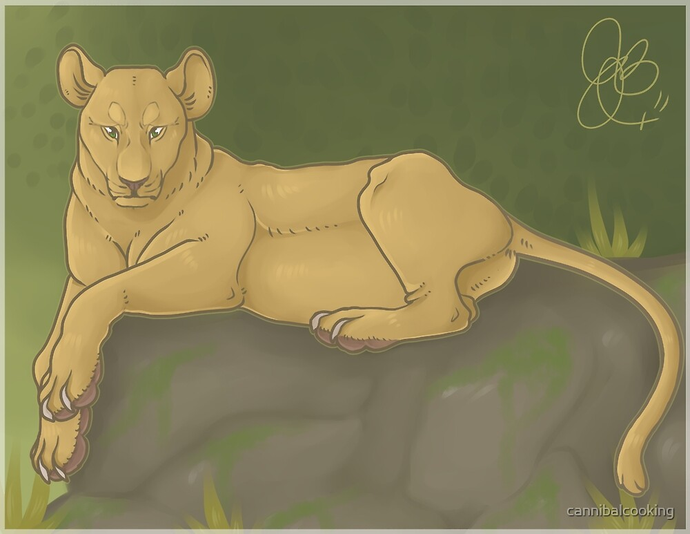 Lioness Relaxation by cannibalcooking