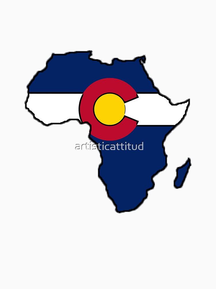 Colorado flag Africa outline by artisticattitud