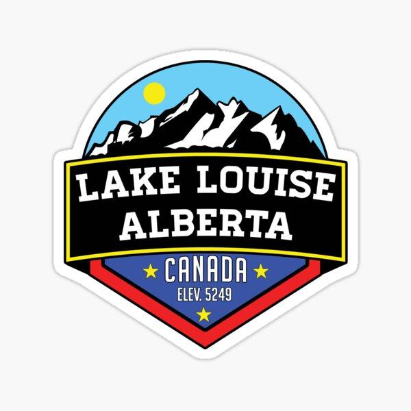 LAKE LOUISE ALBERTA CANADA MOUNTAINS LAKE Sticker
