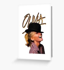 OLIVIA TOTALLY HOT Greeting Card