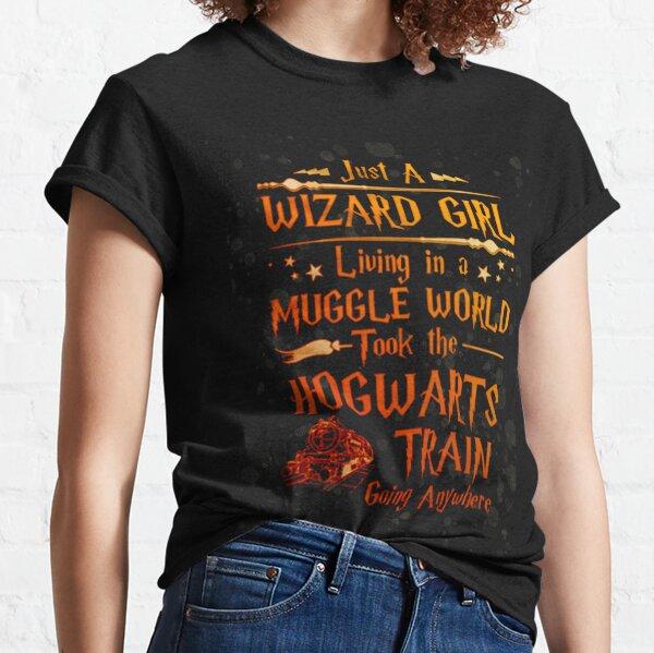Wizard Girl Muggle World Wogwarts Train Classic T-Shirt