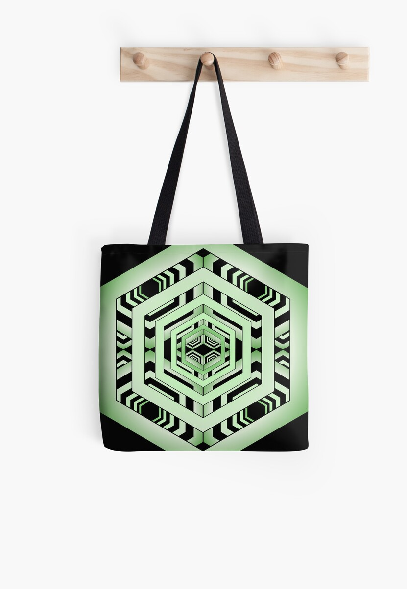 Light Green Hexagon by Sharon Martin