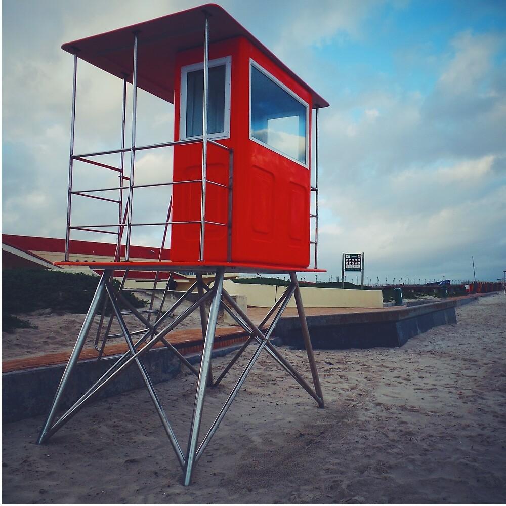 Red Beach Hut. by JacciR