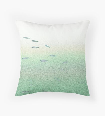 all the little fishy  Throw Pillow