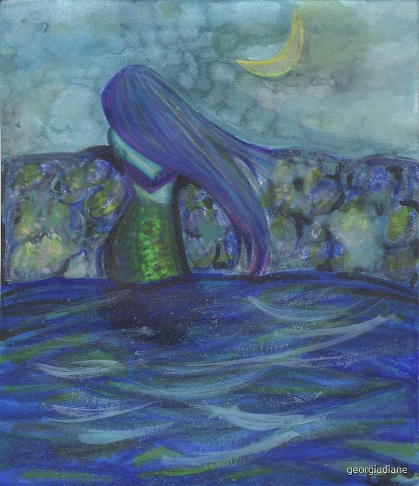 Moonlit Mermaid by georgiadiane