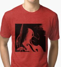 Double Bass Silhouette Painting Tri-blend T-Shirt