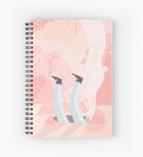 Alice And The Rabbit Hole Spiral Notebook