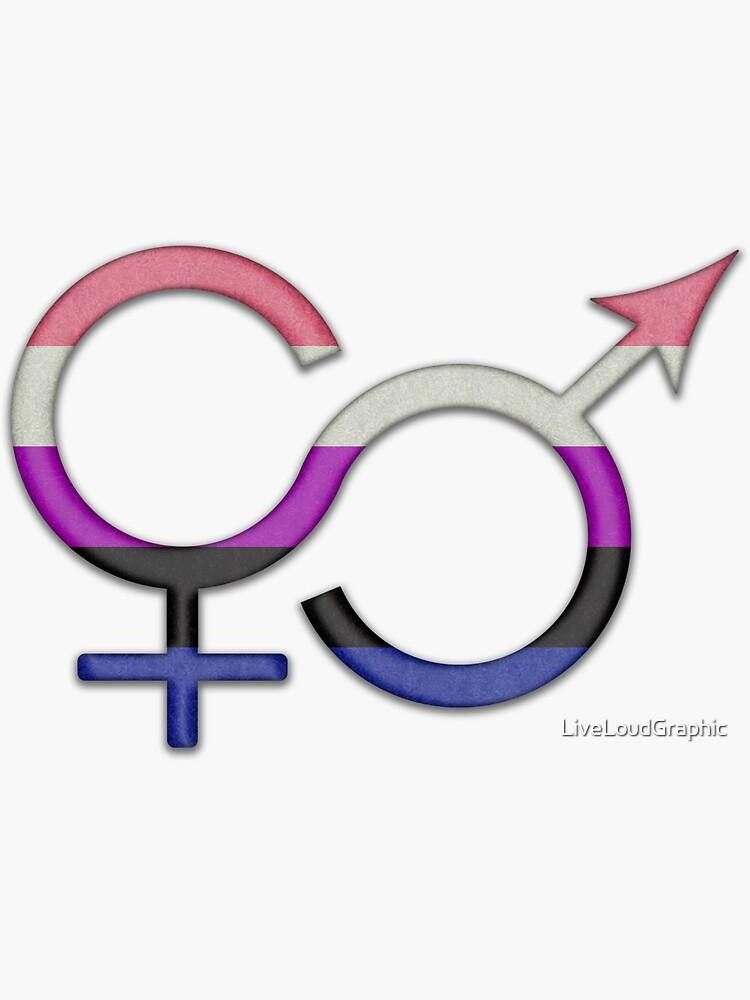 Gender Fluid Symbol by LiveLoudGraphic