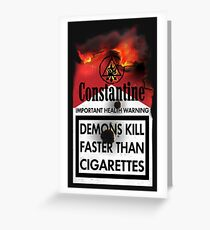Constantine Warning Greeting Card