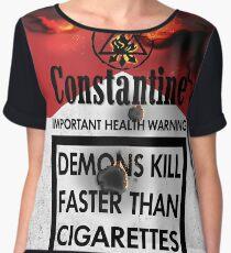 Constantine Warning Women's Chiffon Top