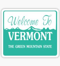 Welcome to Vermont, Road Sign, USA Sticker