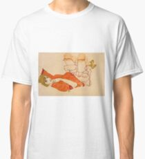 Egon Schiele - Wally In Red Blouse With Raised Knees 1913 Classic T-Shirt