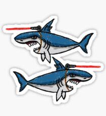 Haie mit friggin 'Laserstrahlen an den Köpfen Sticker