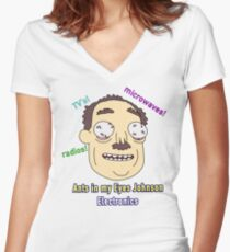 Ants In My Eyes Johnson II Women's Fitted V-Neck T-Shirt