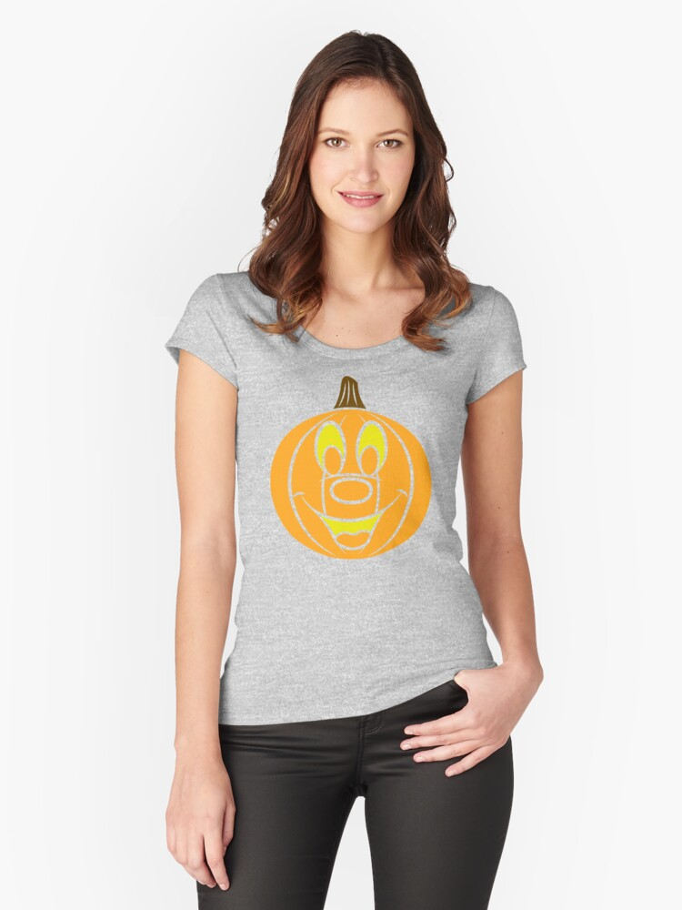 Not So Scary Pumpkin Women's Fitted Scoop T-Shirt Front