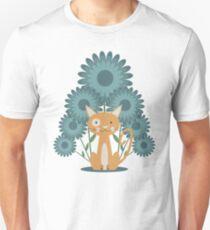 Cat in the Flowerfield Unisex T-Shirt