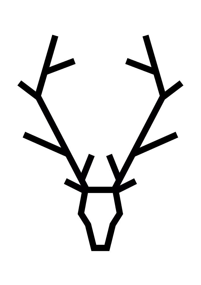 Geometric Deer by mgddesign