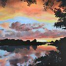 Zambezi River Sunset by Mike Paget