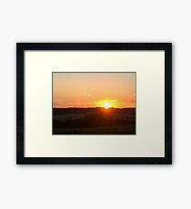 Landscape Sunset Framed Print
