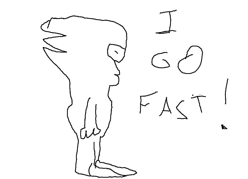 I go fast by echoic
