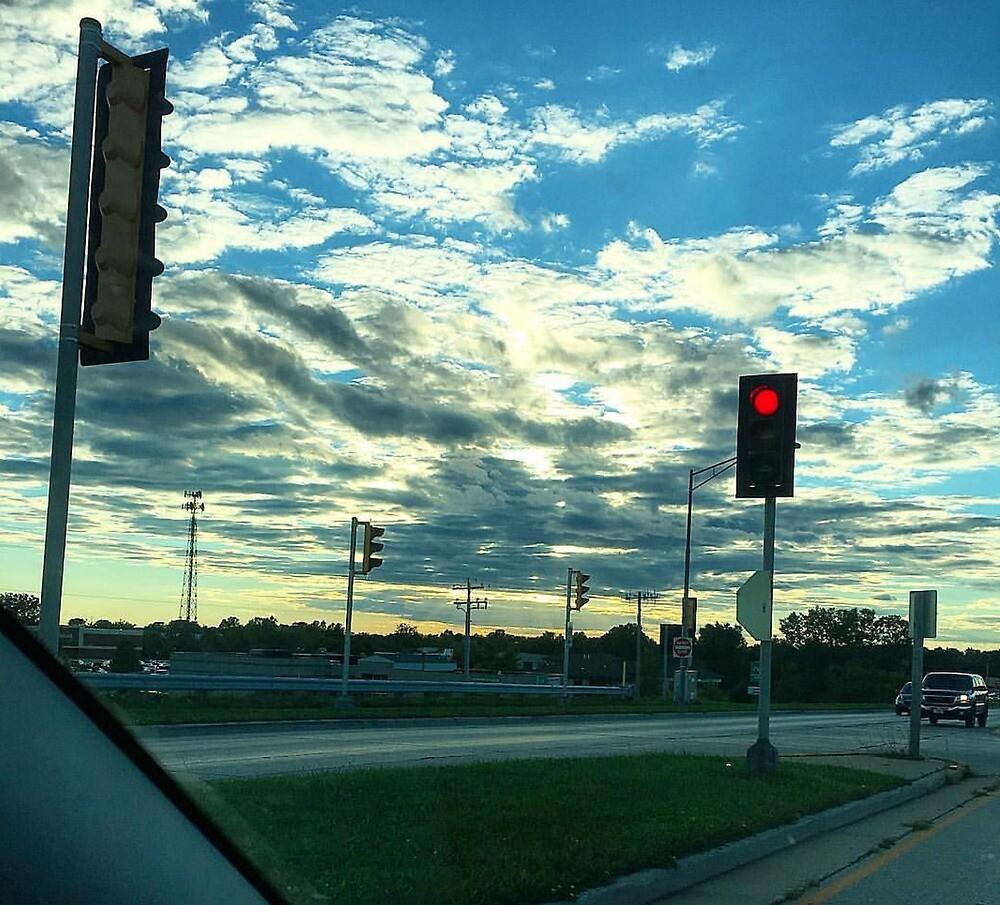 Street Light Bright Sky by Benjachary Grimjolly