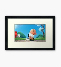 charlie brown snoopy Framed Print
